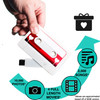Load digital media, photos, videos, music for mixtape or digital scrapbook on cassette flash drive