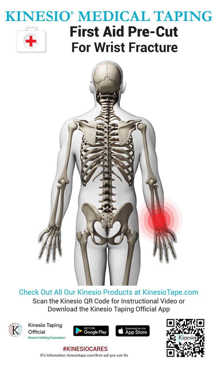 Kinesio First Aid Pre-Cut - Wrist Fracture