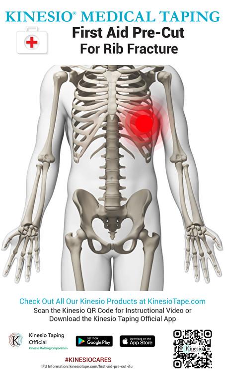 Kinesio First Aid Pre-Cut - Rib Fracture