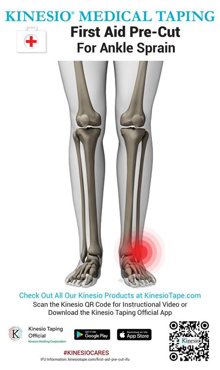 Kinesio First Aid Pre-Cut - Ankle Sprain