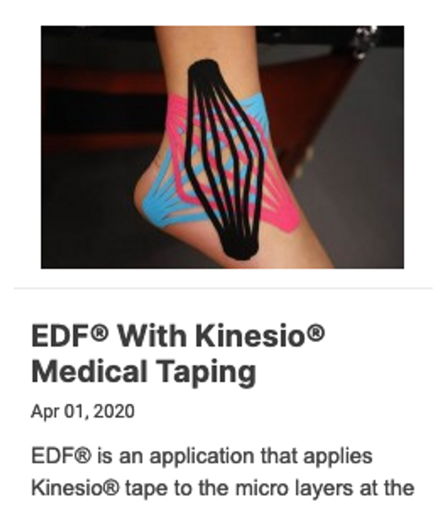 EDF® With Kinesio® Medical Taping - Online Course