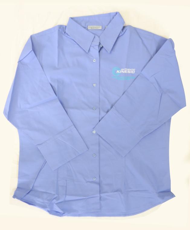 KTAI Destinations 1/3 Sleeve Button Up Shirt (Cornflower Blue)