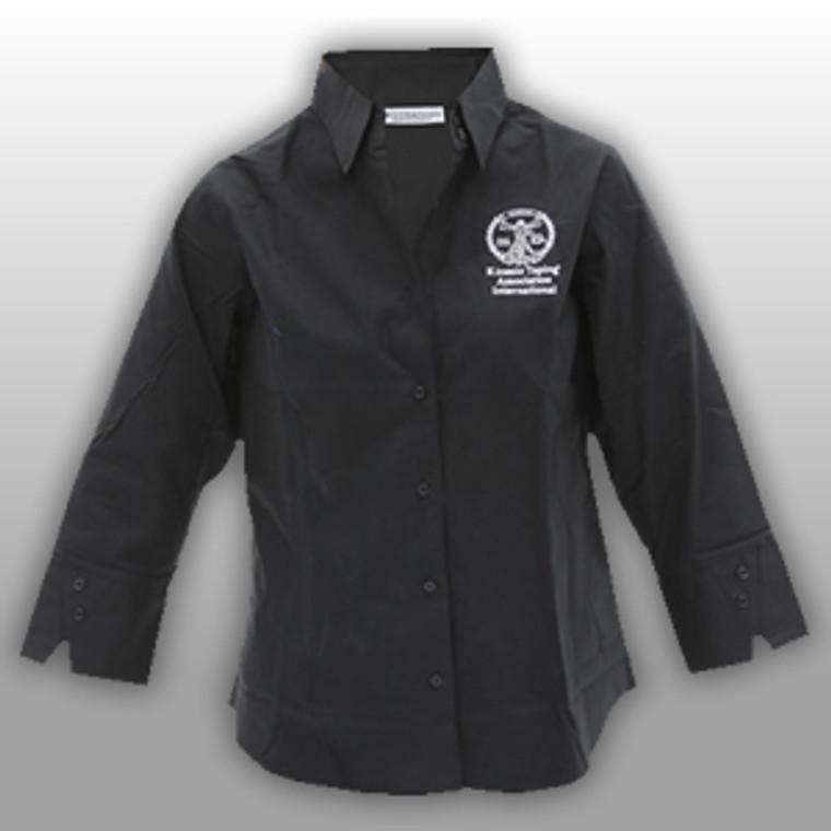 KTAI Destinations 1/3 Sleeve Button Up Shirt (Black)