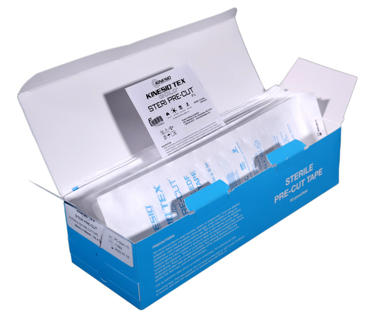 """Kinesio Tex Gold FP® - STERI PRE-CUT™ - 25mm x 150mm (1"""" x 6"""") - 10 Pouch Box"""