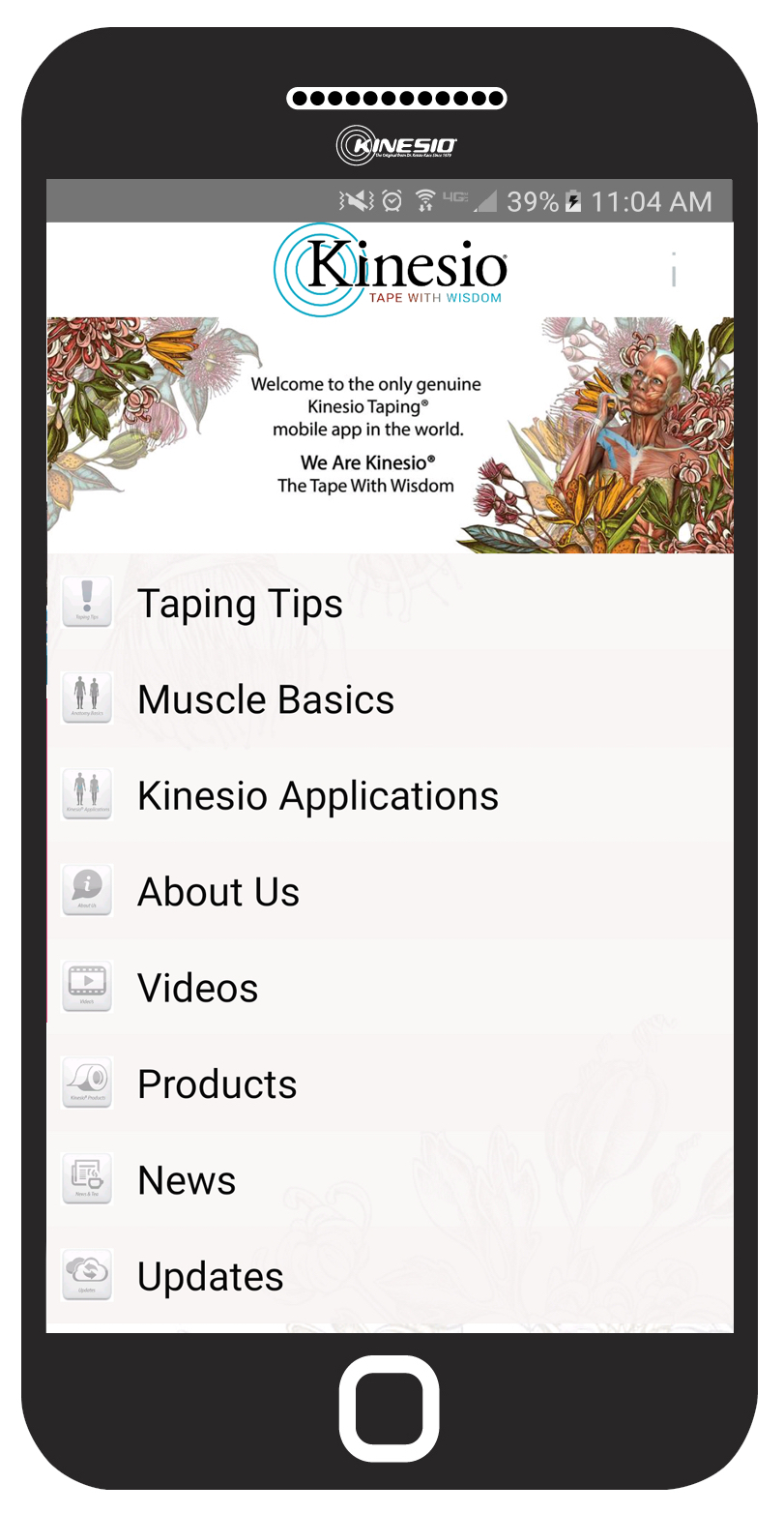 New Kinesio Taping Official App Phone