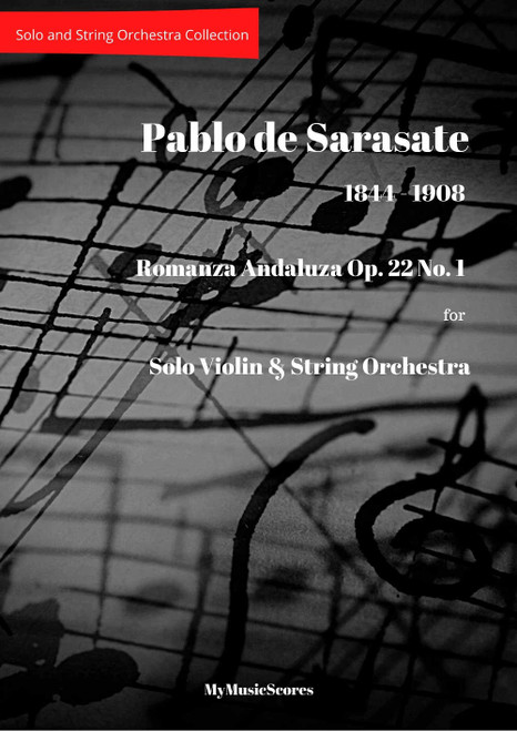 Sarasate Romanza Andaluza Op. 22 No. 1 for Violin and String Orchestra Cover
