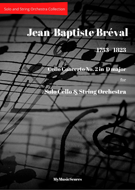 Breval Cello Concerto No 2 in D major for Cello and String Orchestra Cover