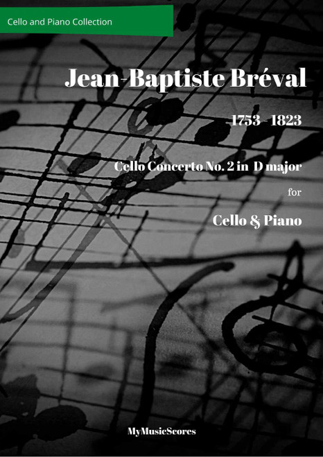 Breval Cello Concerto No 2 for Cello and Piano Cover
