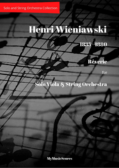 Wieniawski Reverie for Viola and String Orchestra Cover