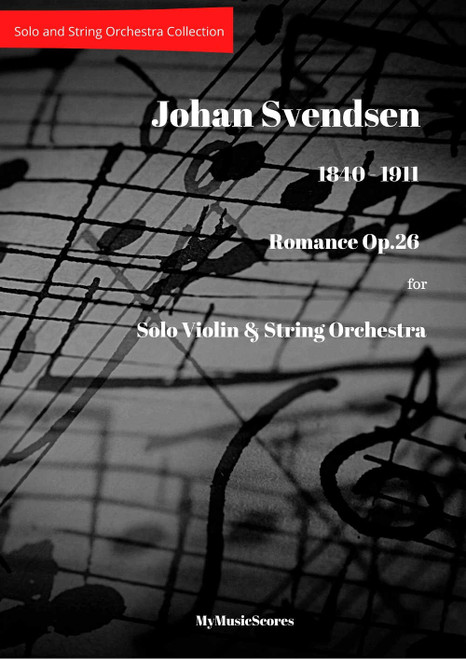 Svendsen Romance Op.26 for Violin and String Orchestra Cover