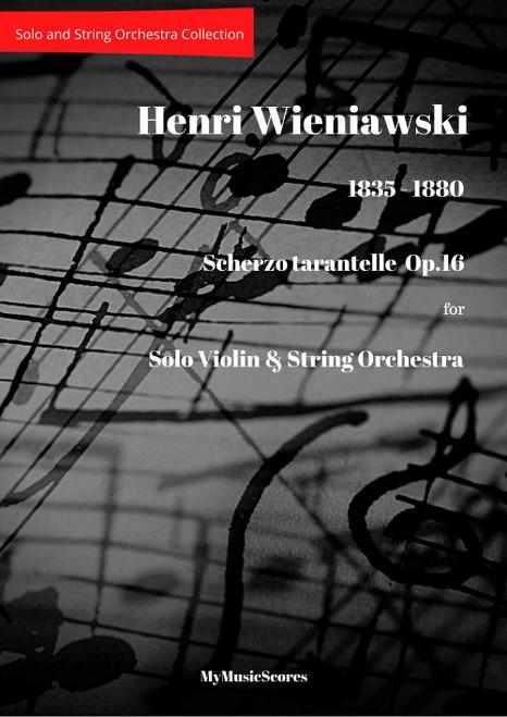 Wieniawski Scherzo Tarantella Op.16 for Violin and String Orchestra Cover