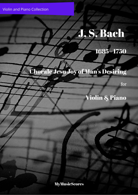 Bach Jesu Joy of Man's Desiring for Violin and Piano Cover