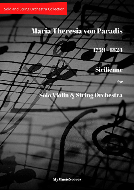 Paradis Sicilienne in E-flat major for Violin and String Orchestra Cover