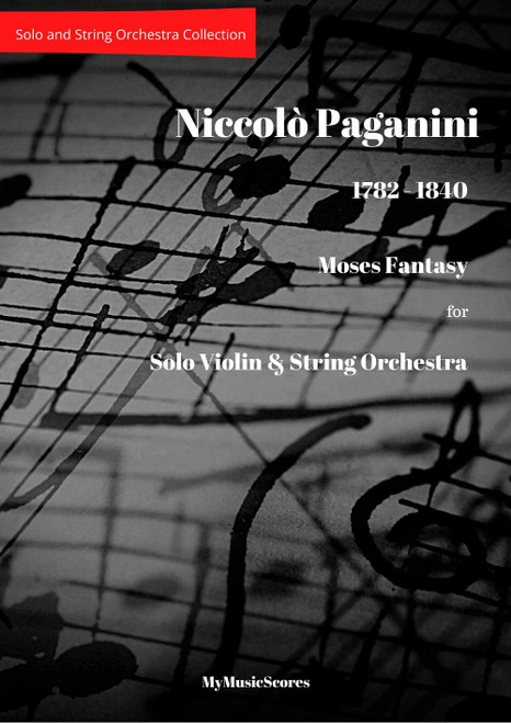 Paganini Moses Fantasy for Violin and String Orchestra Cover