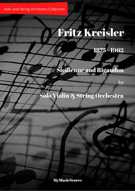 Kreisler Sicilienne and Rigaudon for Violin and String Orchestra Cover