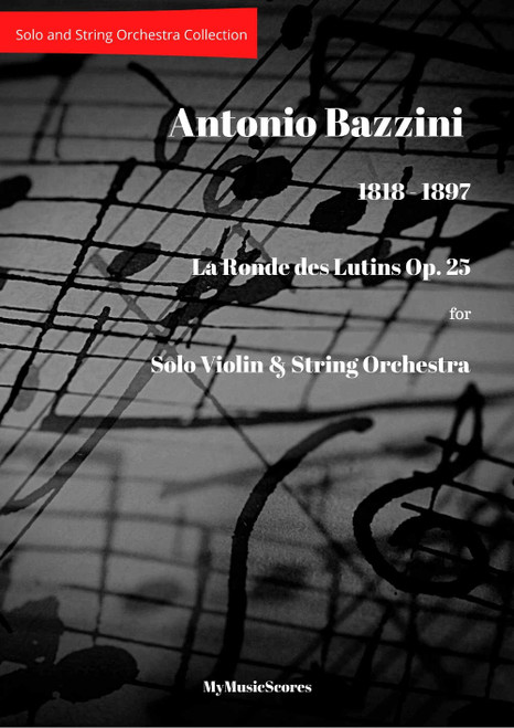 Bazzini La Rondes des Lutins op 25 for Violin and String Orchestra Cover