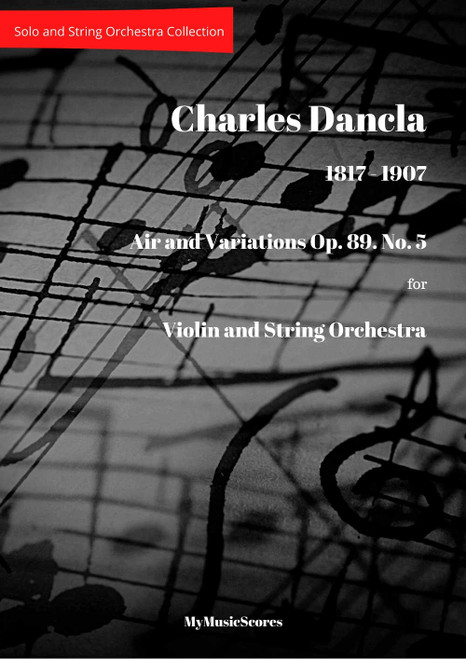 Dancla Air Varie Op.89 No 5 for Violin and String Orchestra Cover