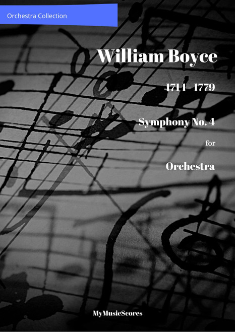 Boyce Symphony No 4 for Orchestra Cover