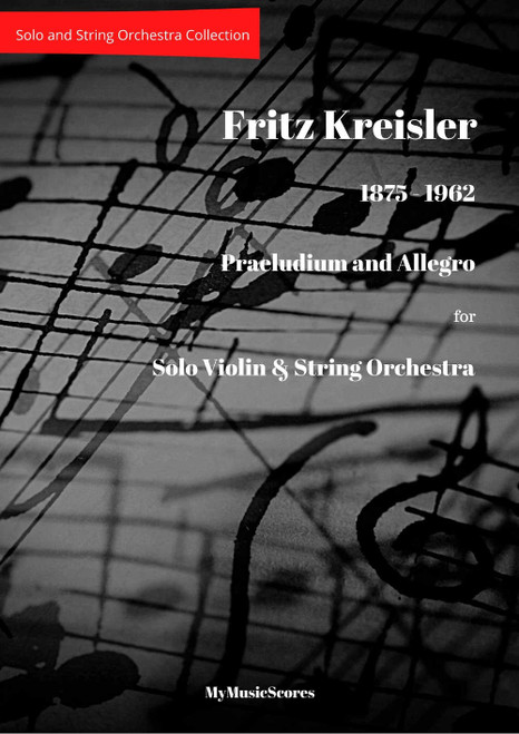 Kreisler Praeludium and Allegro for Violin and String Orchestra Cover