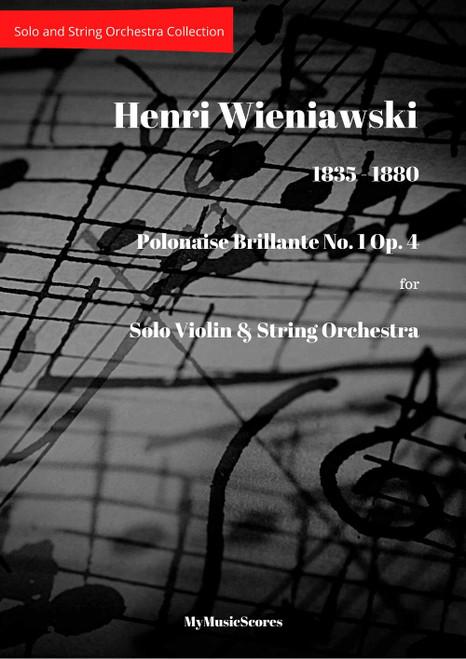 Wieniawski Polonaise Brillante No. 1 Op.4 for Violin and String Orchestra Cover