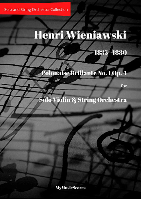 Wieniawski Polonaise Brillante No. 1 Op.4 for Violin and String Orchestra Cover