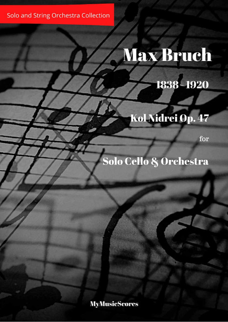 Bruch Kol Nidrei for Cello and String Orchestra Cover