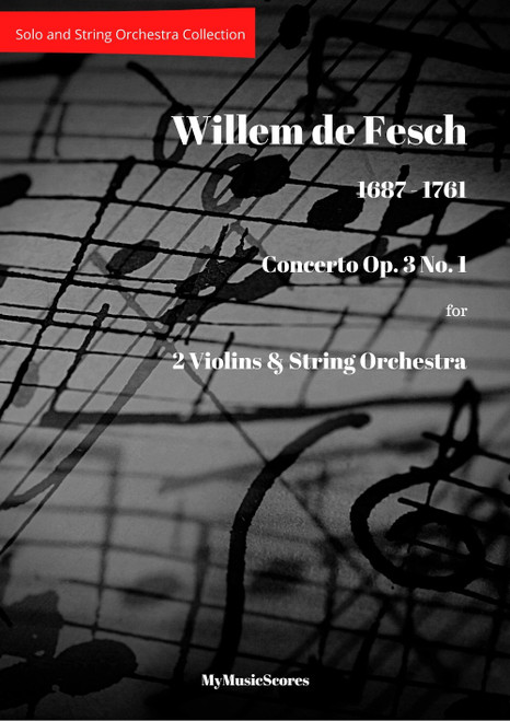 Fesch Concerto Op. 3 No. 1 for 2 Violins and String Orchestra Cover