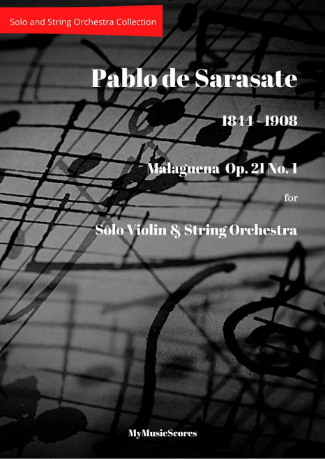 Sarasate Malaguena  Op. 21 No. 1  for Violin and String Orchestra Cover