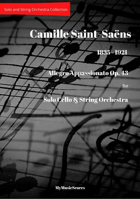 Saint Sains Allegro Appassionato Op. 43 Cello and String Orchestra Cover