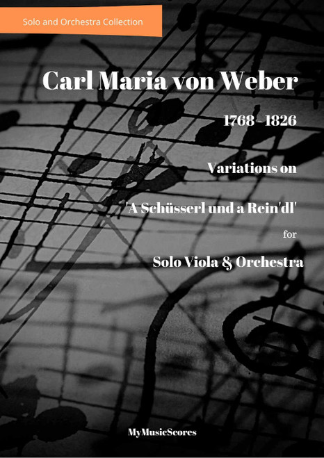 Weber Variations on  'A Schüsserl und a Rein'dl' for Viola and Orchestra Cover