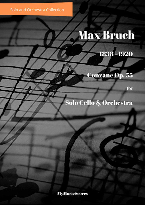 Bruch Canzone for Cello and Orchestra Op.55 Cover