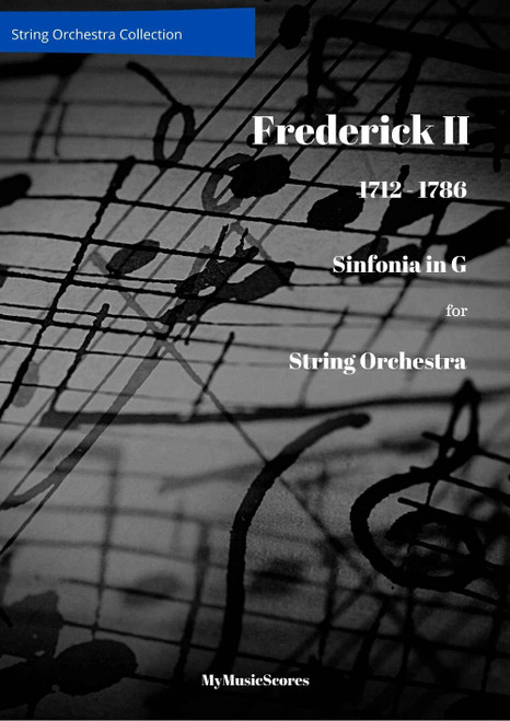Friedrich II Sinfonia in G for String Orchestra Cover
