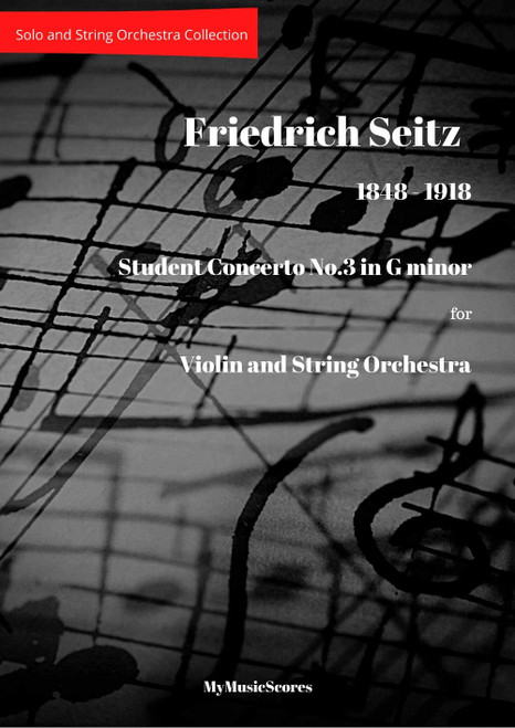 Seitz Student Concerto No 3 for Violin and String Orchestra Cover