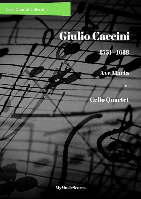 Caccini Ave Maria for Cello Quartet Cover