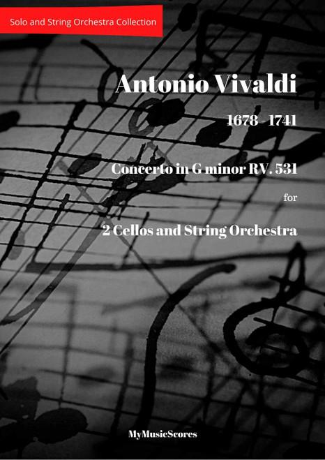 Vivaldi Concerto in G minor RV 531 for 2 Cellos and String Orchestra Cover