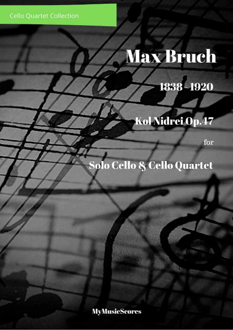 Bruch Kol Nidrei for Cello and Cello Quartet Cover