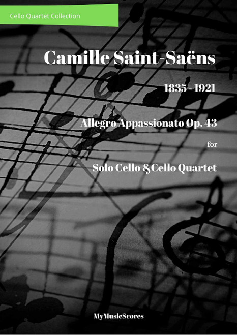 Saint-Saens Allegro Appassionata Op. 43 for Solo Cello and Cello Quartet Cover
