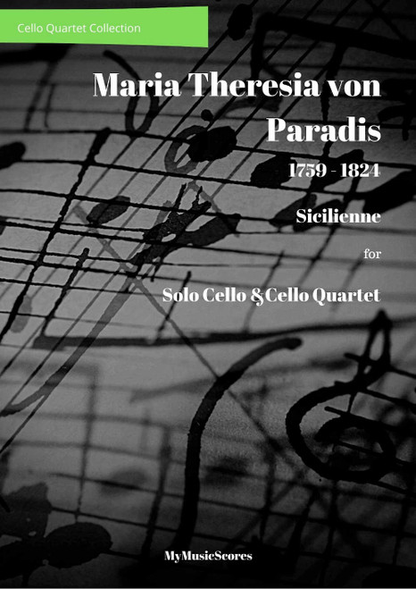 Paradis Sicilienne for Solo Cello and Cello Quartet Cover
