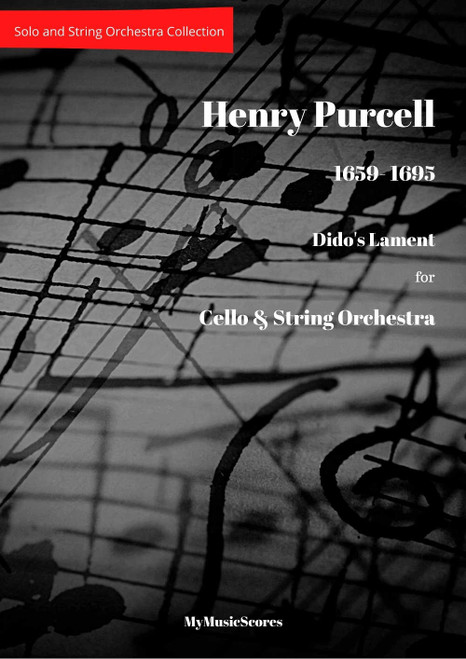 Purcell Dido's Lament for Cello and String Orchestra Cover