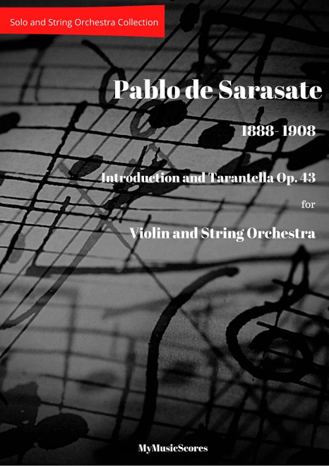 Sarasate Introduction and Tarantella for Violin and String Orchestra. Cover