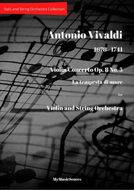 """Vivaldi Violin Concerto Op. 8 No. 5 """"La tempesta di mare"""" Cover"""