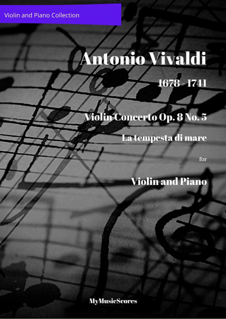 "Vivaldi Violin Concerto Op. 8 No. 5 ""La tempesta di mare"" for Violin and Piano Cover"