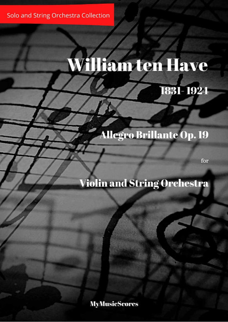 Ten Have Allegro Brillante Op.19 for Violin and String Orchestra Cover
