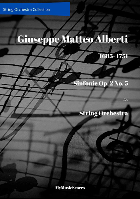 Alberti Sinfonie Op. 2 No. 5 for String Orchestra Cover
