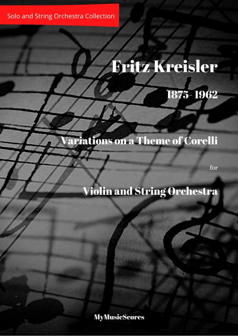 Kreisler Variations on a Theme by Corelli for Violin and String Orchestra Cover