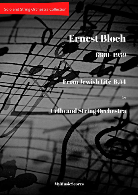 Bloch From Jewish Life B.54 for Cello and String Orchestra Cover