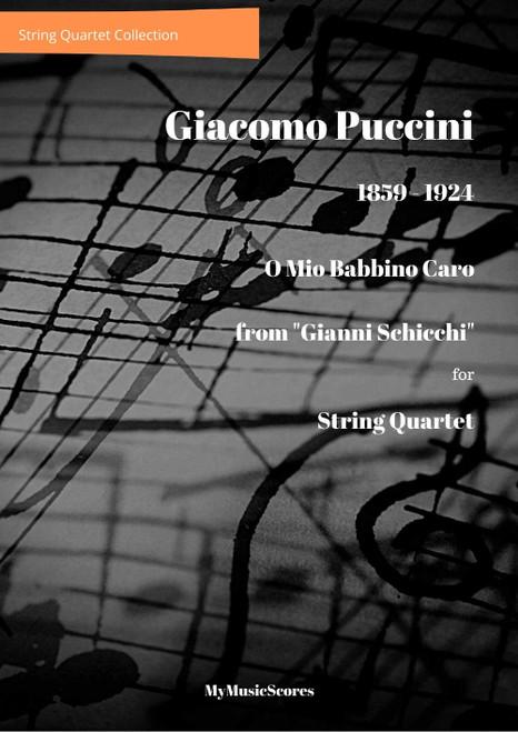 """Puccini O Mio Babbino Caro"""" for String Quartet"""