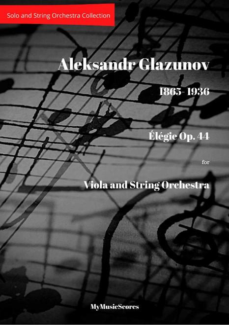 Glazunov Elegy Op. 44 for Viola and String Orchestra