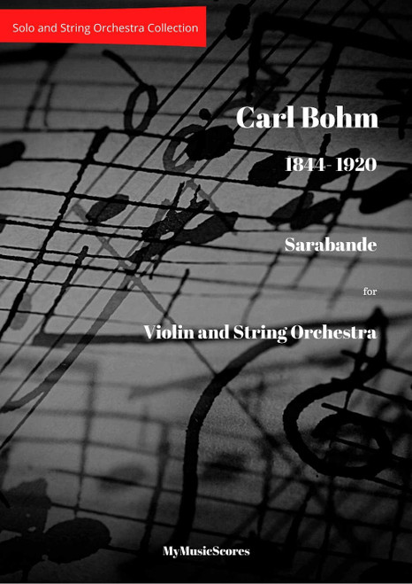 Bohm Sarabande Violin and Orchestra