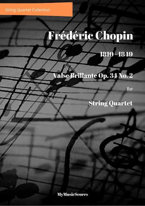 Chopin Valse Brillante Op. 34 No. 2 for String Quartet